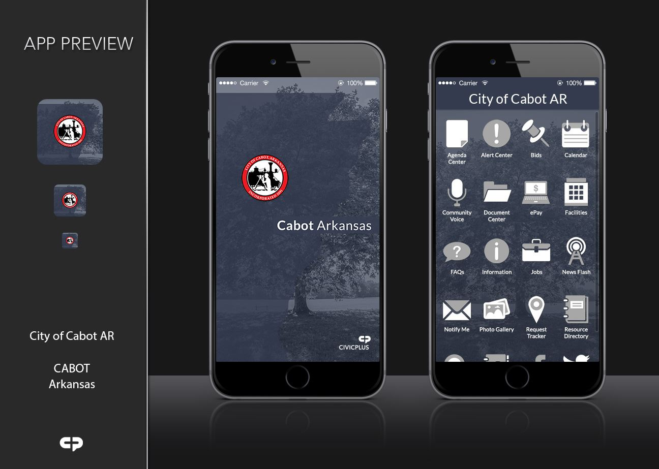 City of Cabot AR - Mobile App Preview