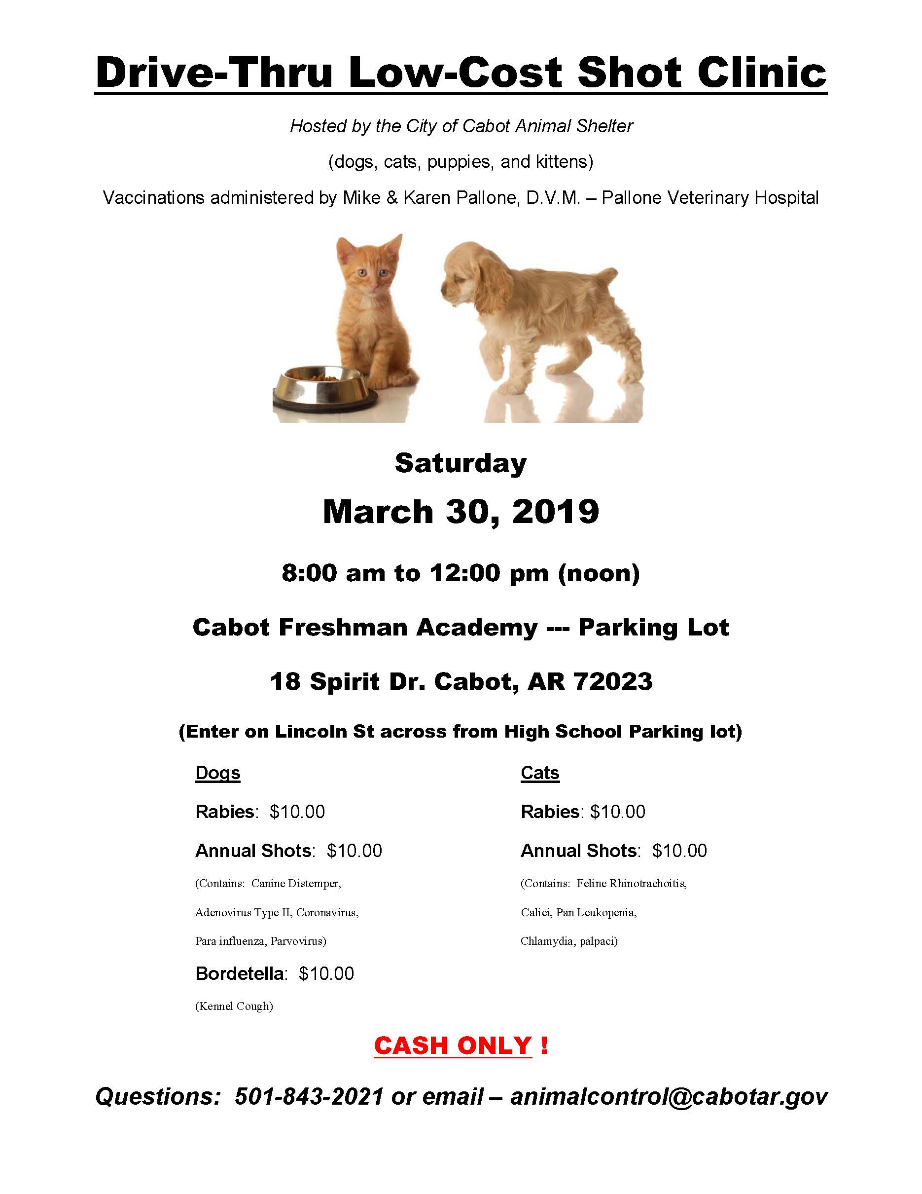 Low Cost Shot Clinic Flyer March 2019